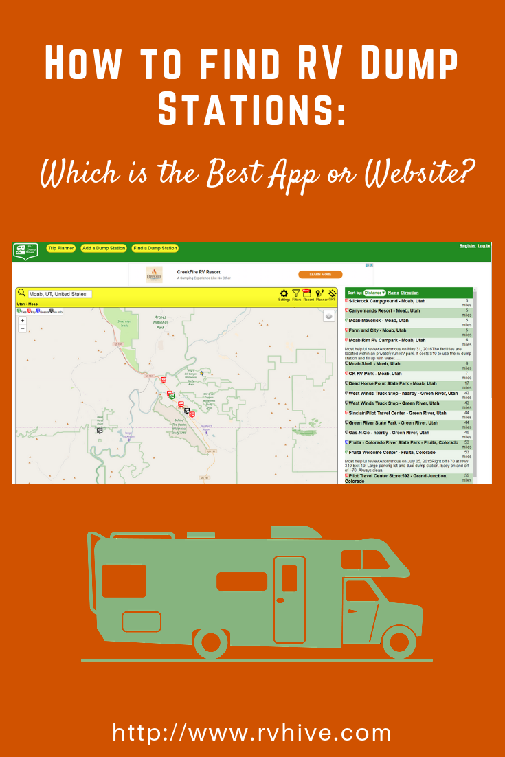 How To Find Rv Dump Stations Which Is The Best App Or Website Rv Apps App Station