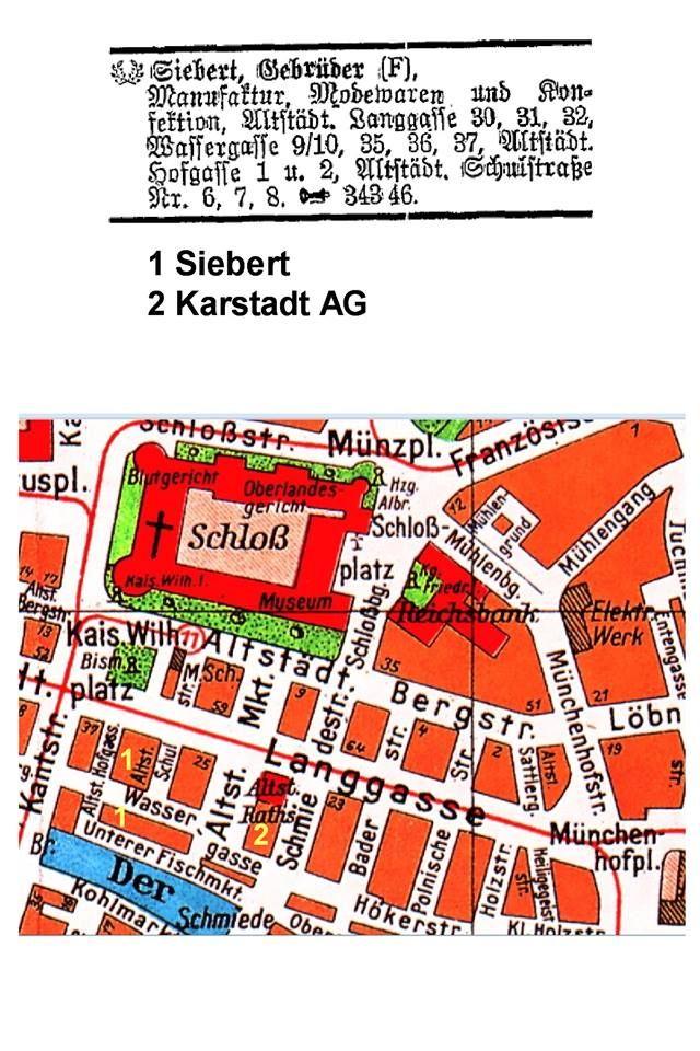 Königsberg Pr.  Altstadt mit Schloß