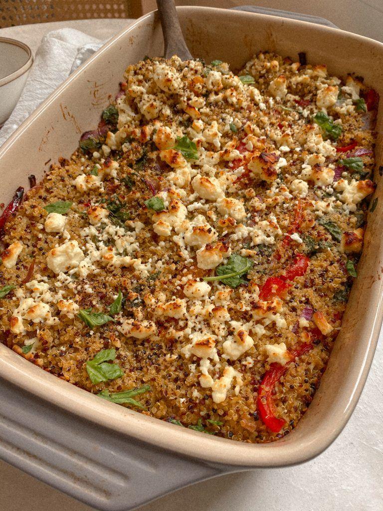 Quinoa Veggie Bake Gluten Free Recipe Baked Veggies Good Healthy Recipes Vegan Recipes Easy