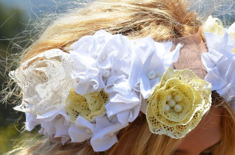 DIY floral headpiece