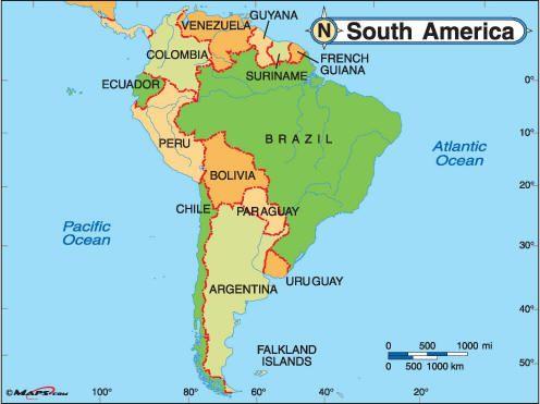 Southamericapolmapsjpg BRAZIL Pinterest Brazil - Brazil south america map