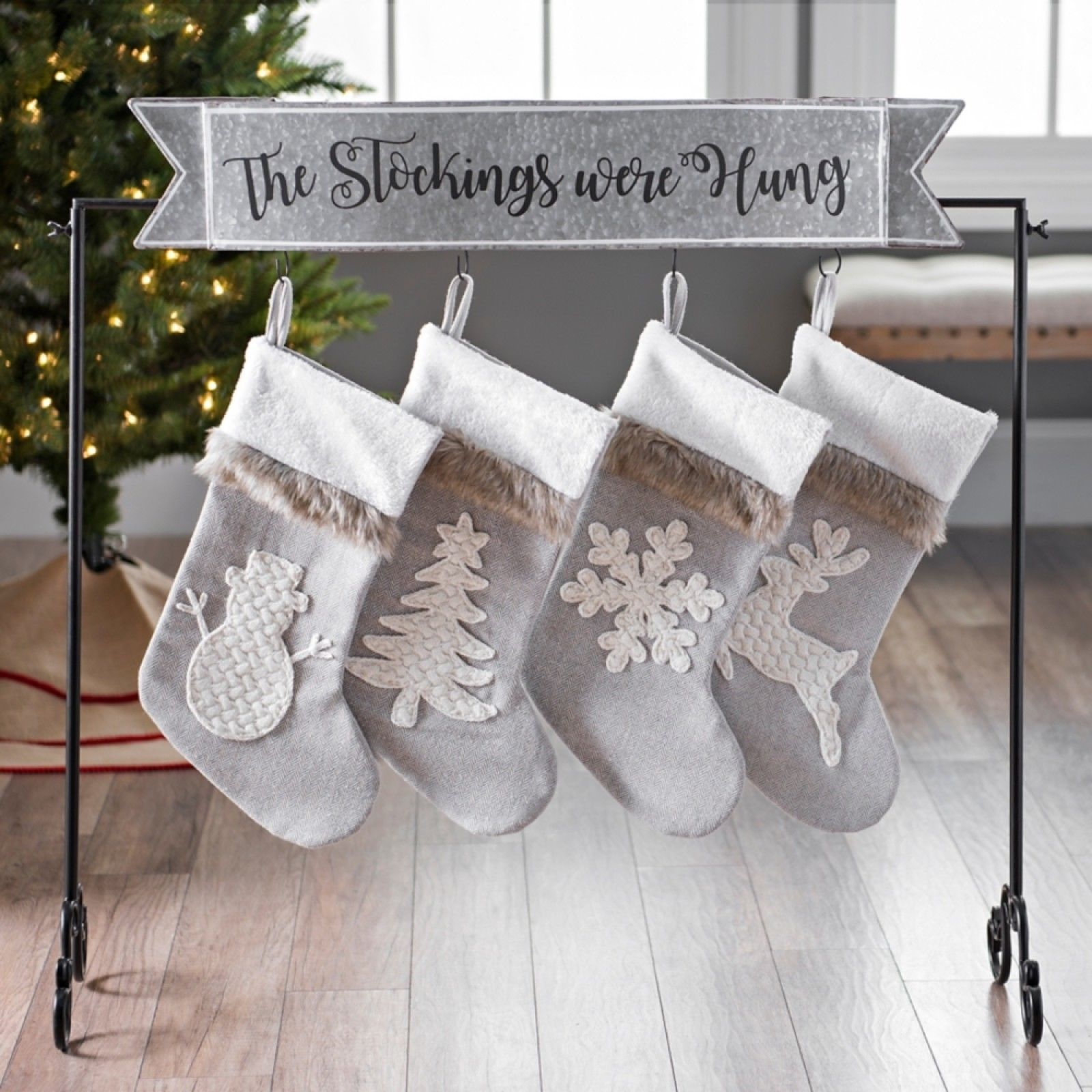 Description Place the stockings next to your tree with the ...