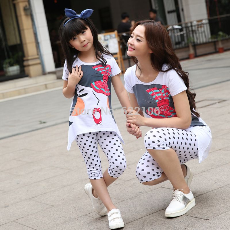 Matching Mother Daughter Clothes 2016 Family Look Girl And