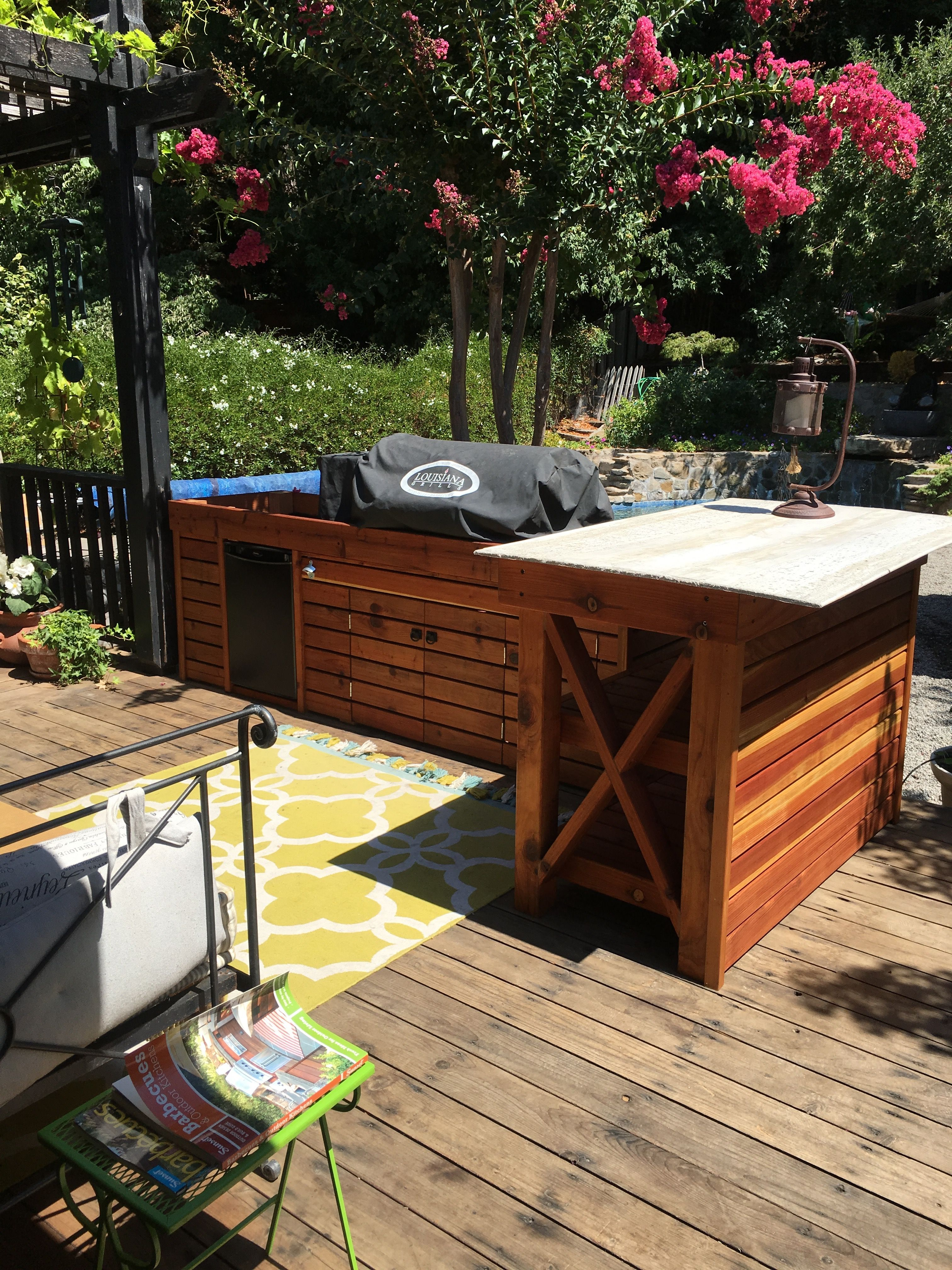 our little outdoor louisiana smoker kitchen before countertops outdoor furniture outdoor on outdoor kitchen with smoker id=59302