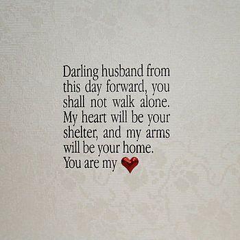 Husband Or Wife Poem Wedding Card