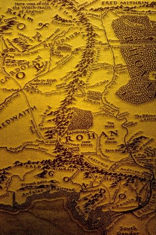 The Realm Of Middle Earth Map IPhone 6 Wallpaper