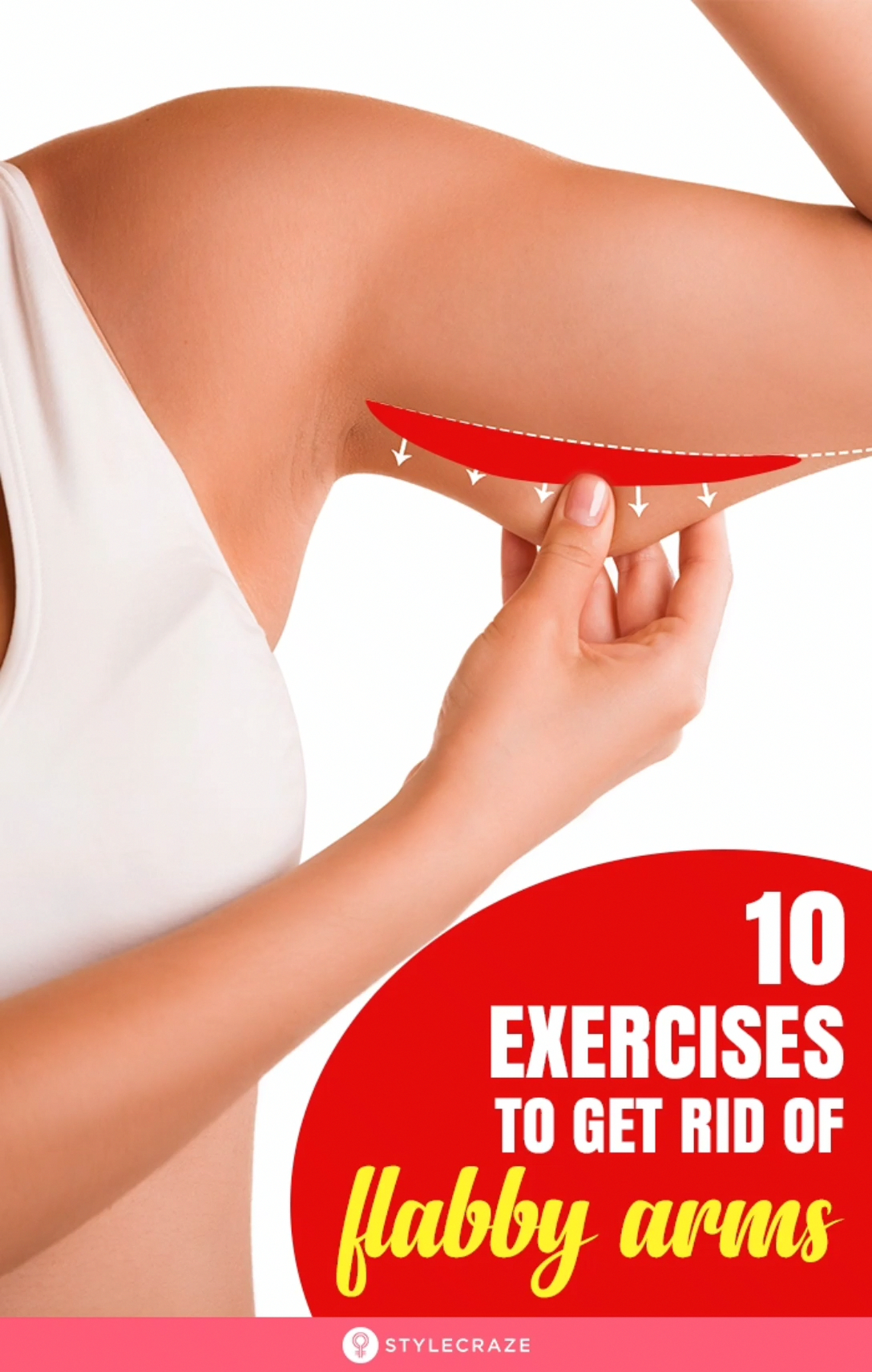 Flabby arms look as bad as a jiggly tummy. They make you look older, unfit, and on top of that sleev...