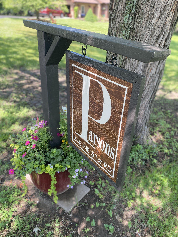 Address sign address numbers house number sign plantar