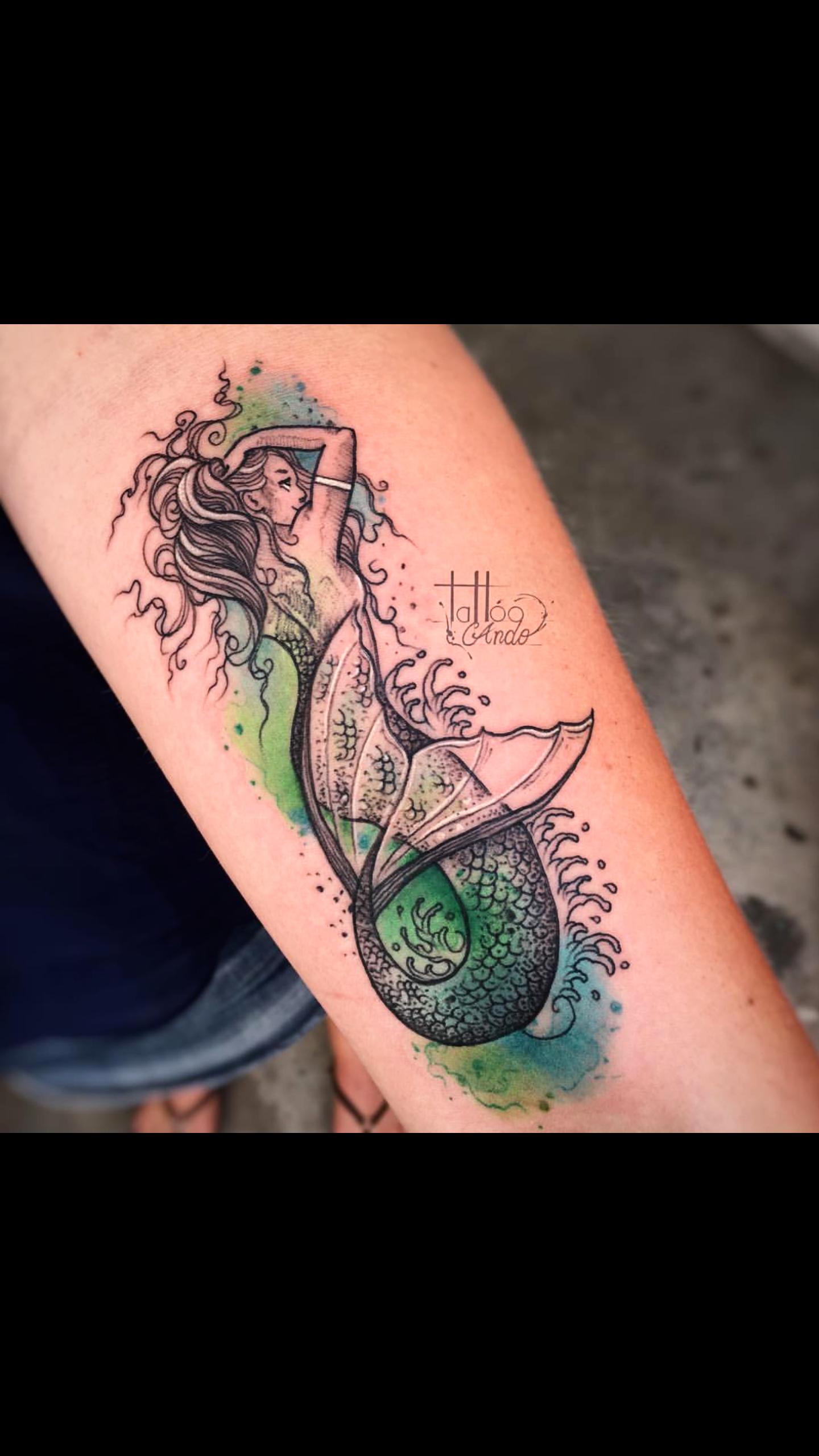 Mermaid Tattoo - Watercolor