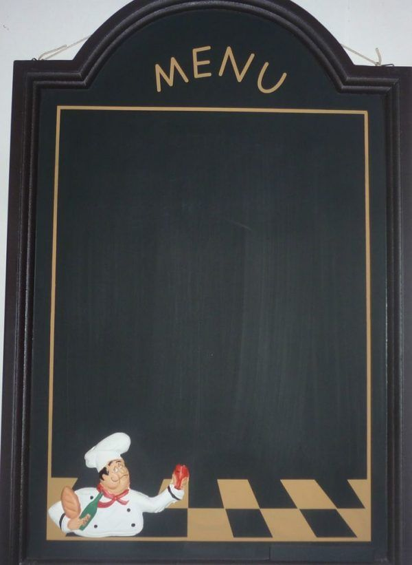 Kitchen Decoration Cafe Wall Decor Kitchen Using Chalkboard Plywood And  Wooden Frame Design In Chocolate Brown