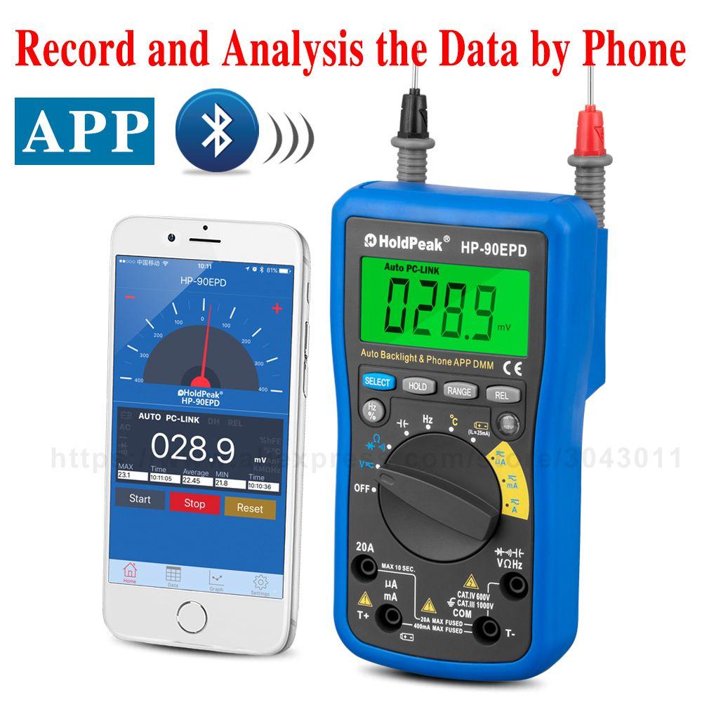 Dc Ac Mobile App Multifunction Intelligent Digital Multimeter Bluetooth Remote Internet Instrument Auto Range Measu Multimeter Bluetooth Remote Measuring Tools