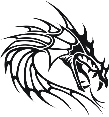 Tribal Dragon Head Drawing Gallery Dragon Head Drawing Dragon Head Tattoo Small Dragon Tattoos
