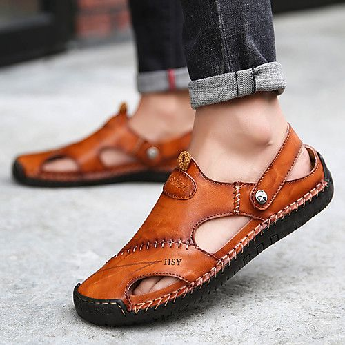 Menico Hand Stitching Leather Sandals Casual Beach
