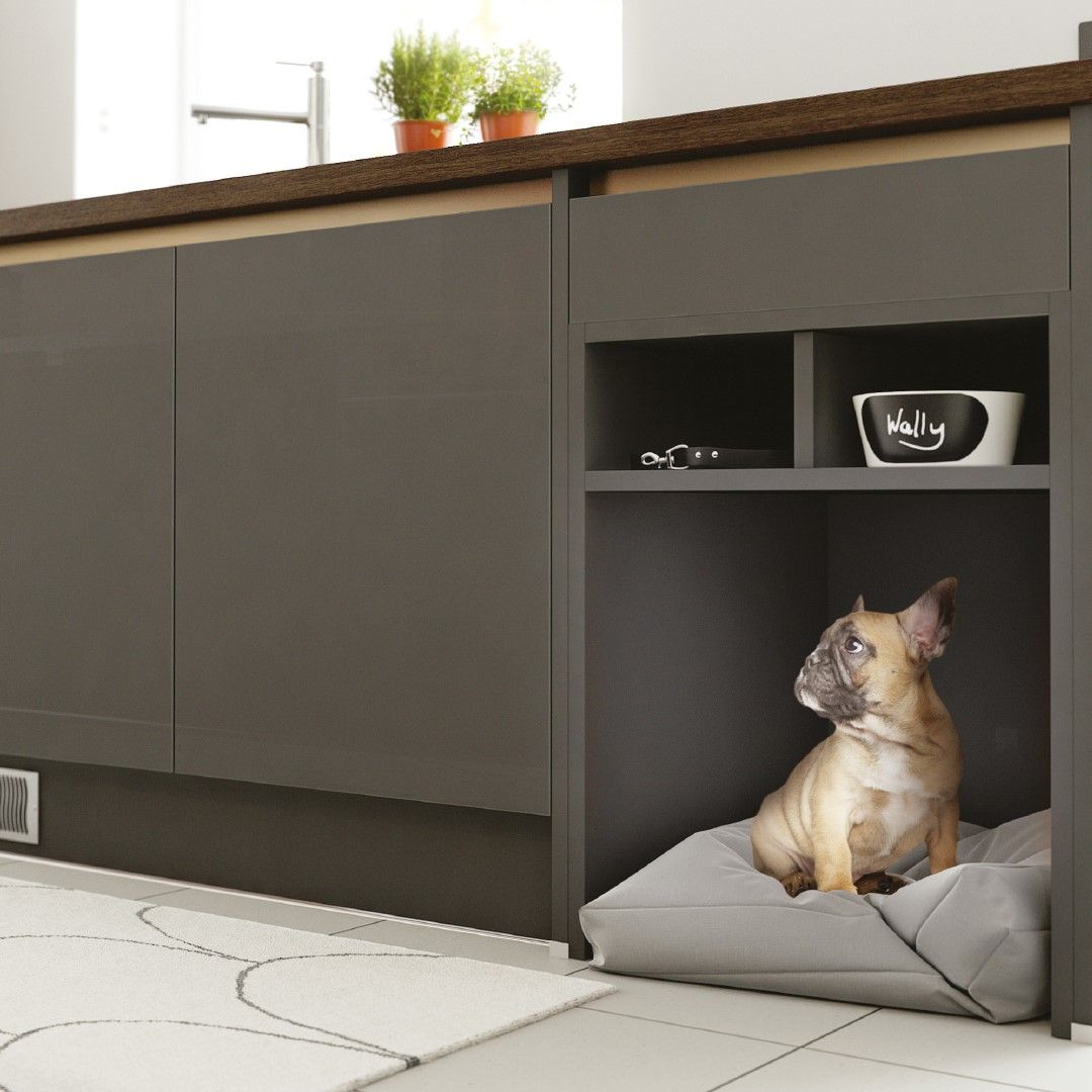 Our pet beds come in a range of three sizes Wren kitchen