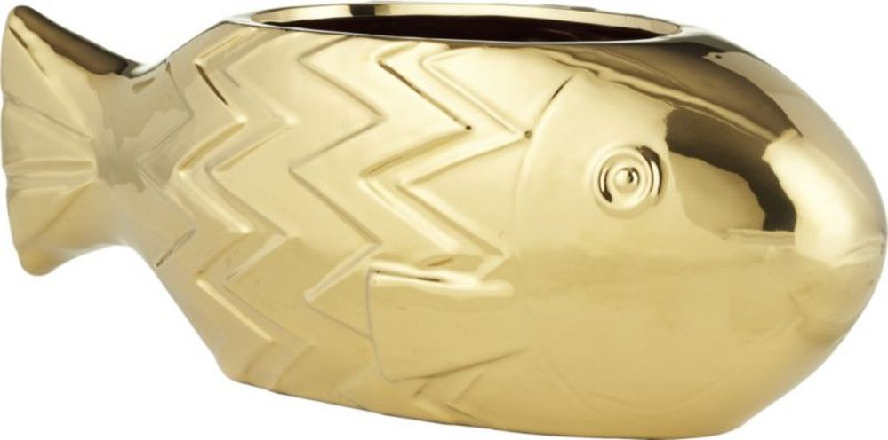 CB2 - June Catalog - Bodhi Gold Planter