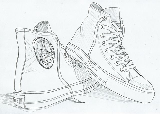 c7ea2644a66e Gallery For   High Top Converse Drawing