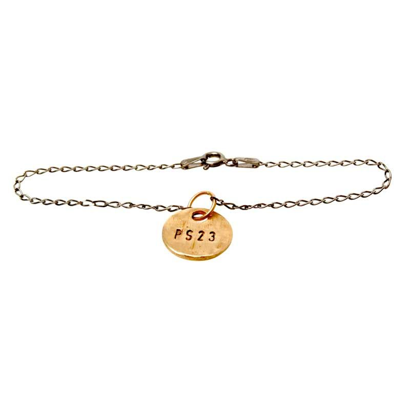 Golden Bronze Coin Bracelet by Emma Isralesson #PS23