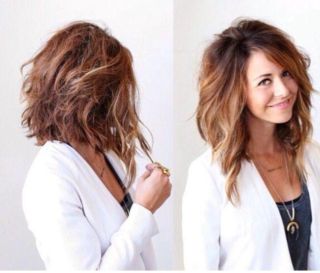 Carre long plongeant cheveux ondules