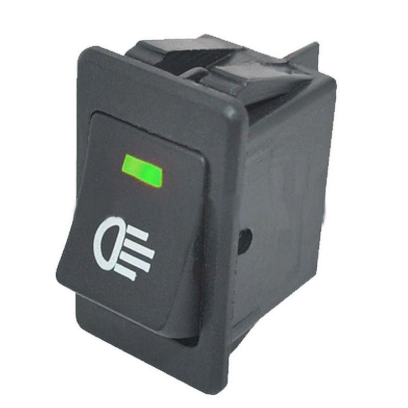 1 개 12 볼트 35A 녹색 색상 안개 빛 램프 로커 스위치 LED 자동차 트럭 보트 대시 대시 보드 VEQ20 P50