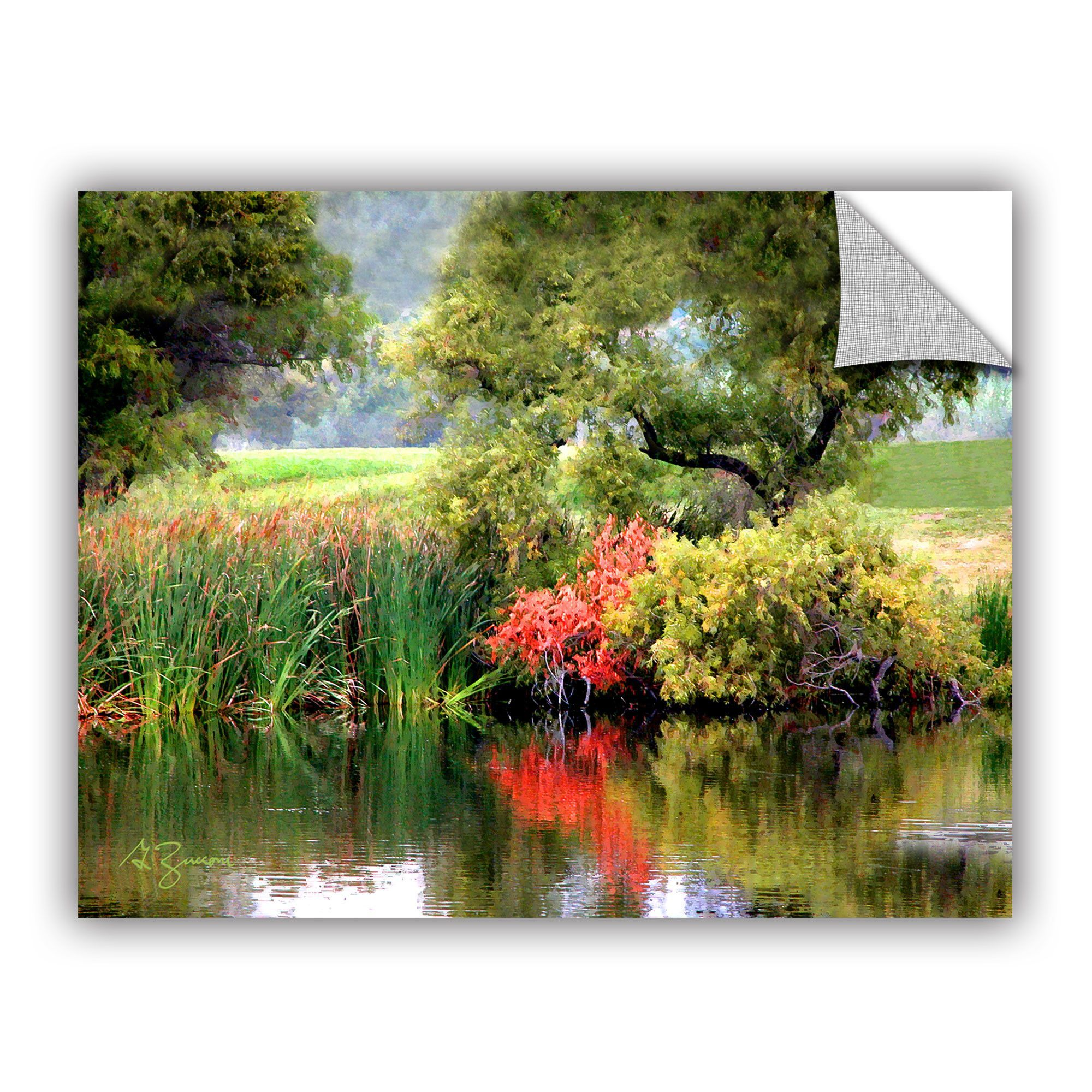 Santee Lakes By George Zucconiremovable Wall Decal Santee Lakes Painting Prints Artwall