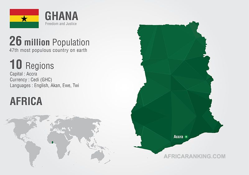 Ghana Map List Of Countries In West Africa English African - English official language world map