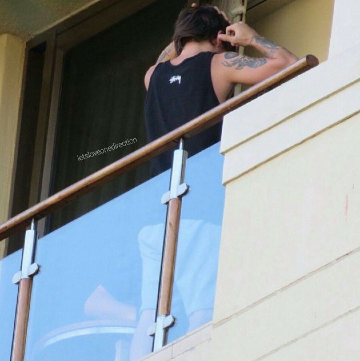 The boys on the hotel balcony in Cape Town South Africa
