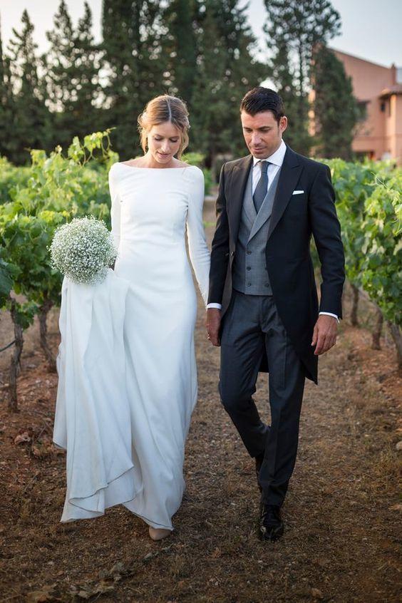 Einfache Nixe Hochzeitskleid, Menorrhagie offener Verstellen Hochzeitskleid Hoch…