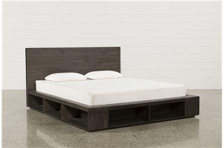 Dylan Queen Platform Bed   Beds   Pinterest   Platform beds, Living ...