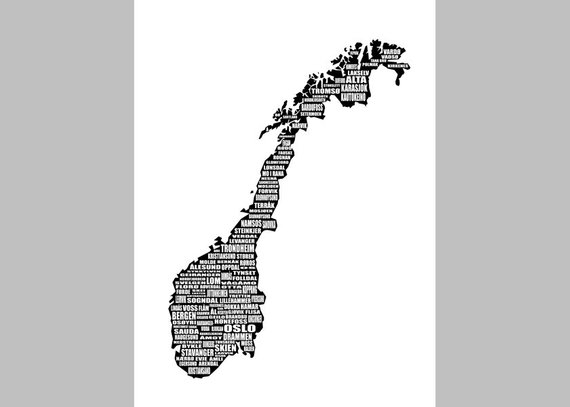 image relating to Printable Map of Norway identified as Map of Norway, Norway Map, Map of Norway Print, Quick