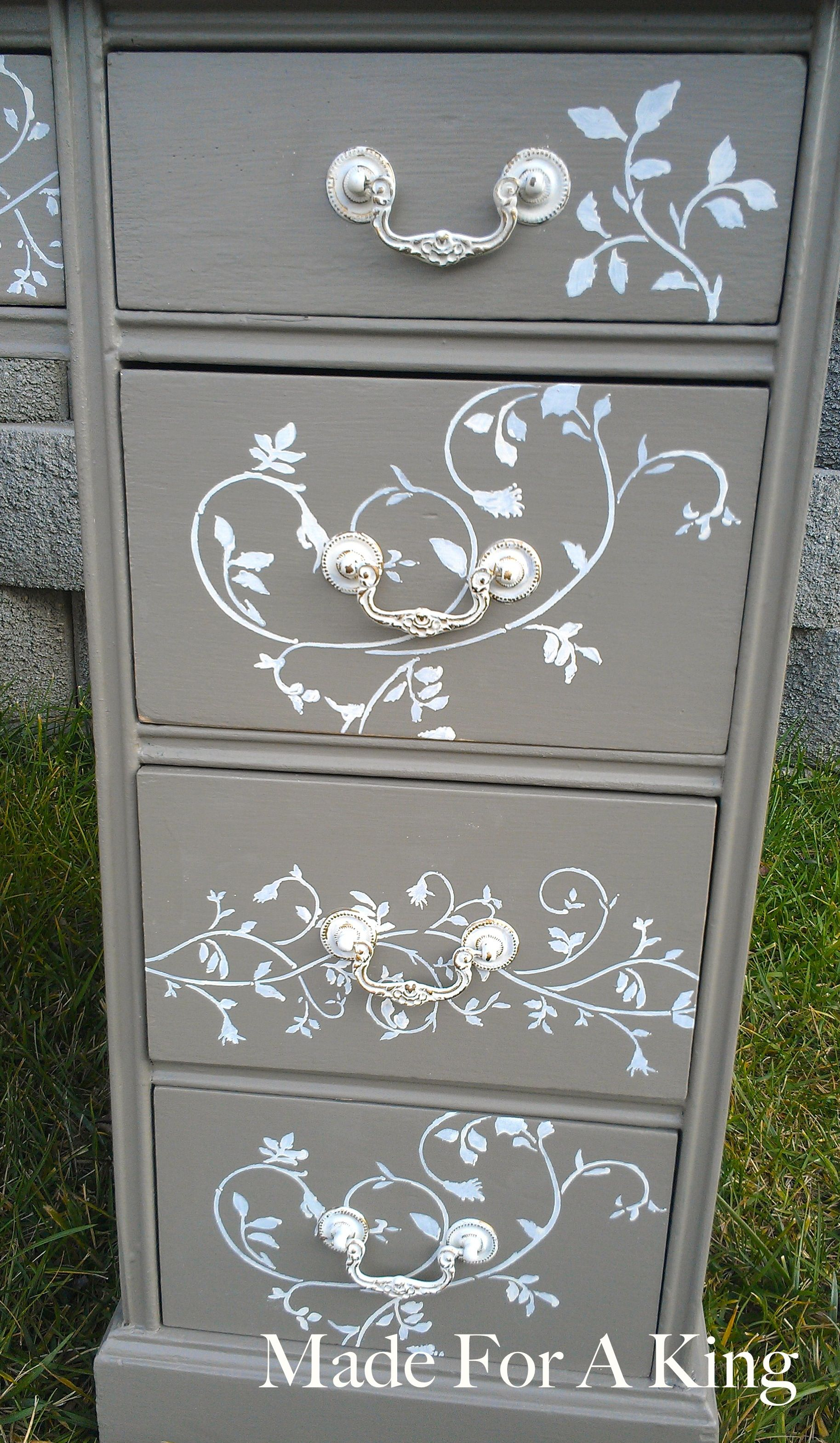 Diy Painted Stencil Bathroom Floor: Stenciled Drawer Fronts! - Made For A King