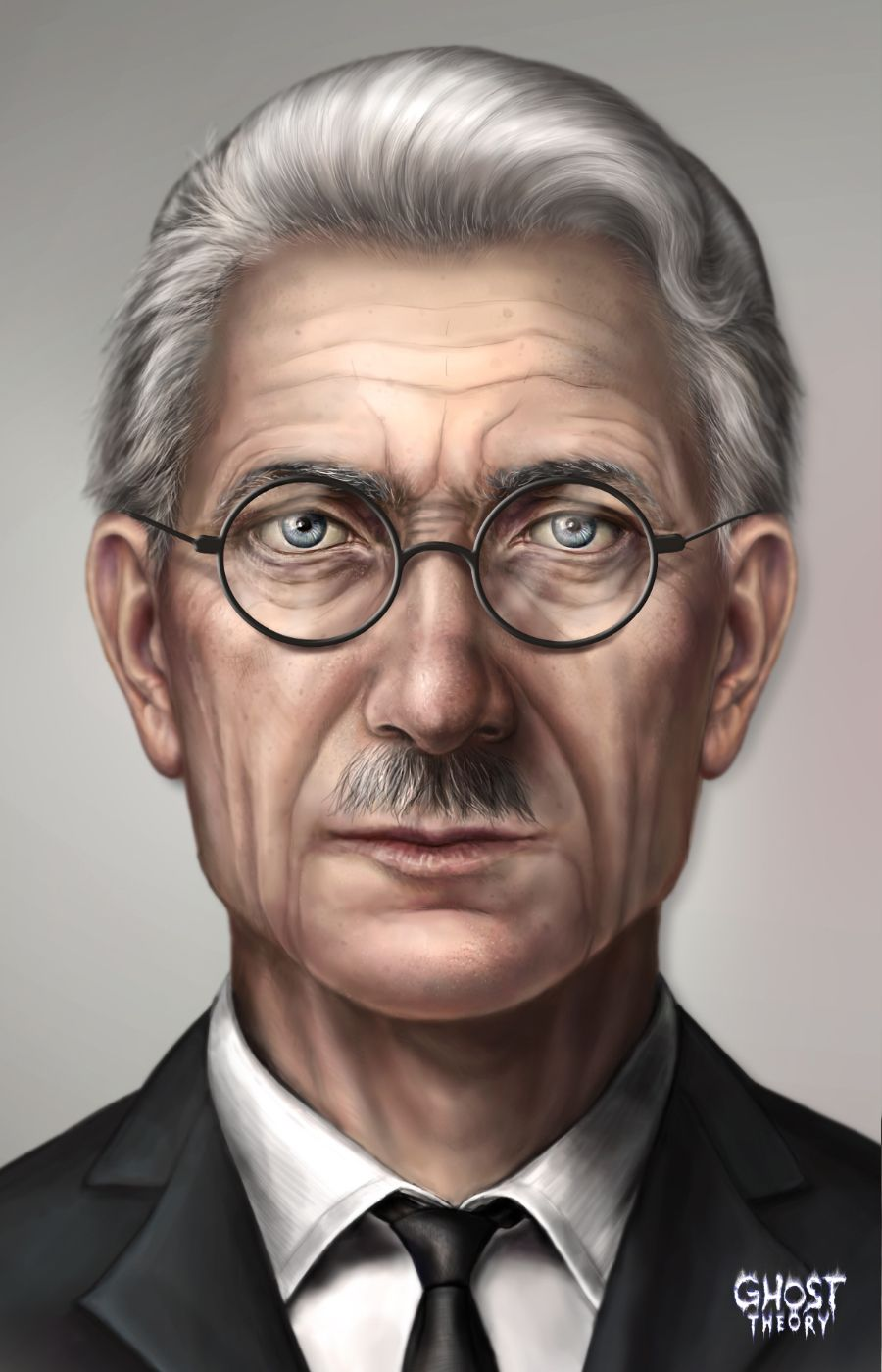 Portrait of William Frost, the professor of parapsychology who takes Barbara under his wing and helps her become a paranormal investigator. See more about Ghost Theory game on www.ghost-theory.com
