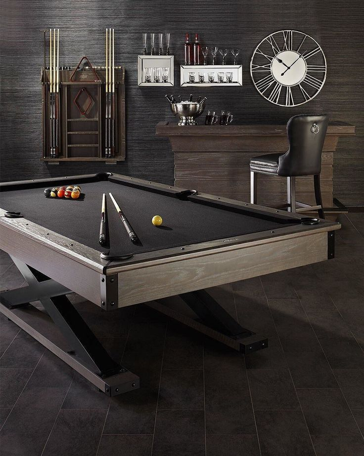 Luxury Man Cave Game Room Bar With Images: Pool Table Room, Man Cave Home Bar, Game Room Bar