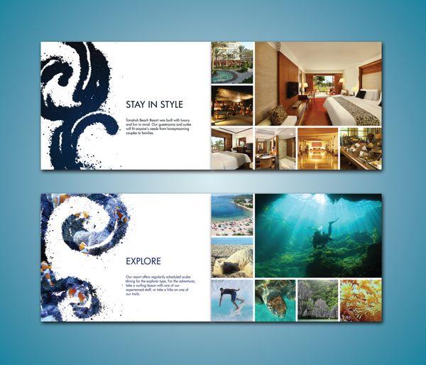 Beach Resort Brochure by Lauren Prueter, via Behance   In ...