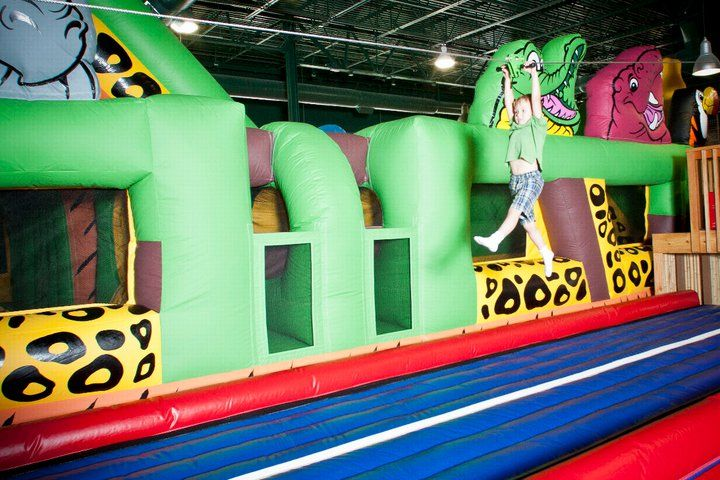 The Zebra Zip Line At Safari Nation Is A Favorite Indoor Fun Kids Birthday Party Places Indoor Birthday Parties Party Places For Kids