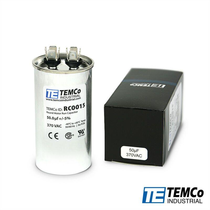 Temco 50 Uf Mfd 370 Vac Volts Round Run Capacitor 50 60 Hz Lot 1 Capacitor Vac Round