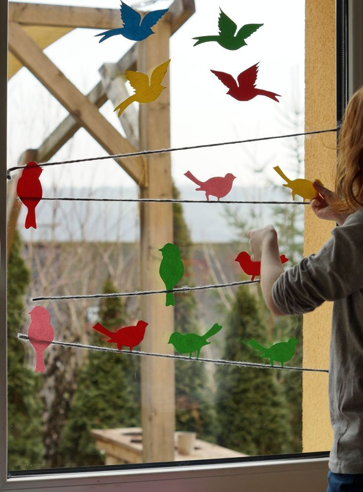 Photo of Hello spring // from a colorful bird paradise at our window + print template – sisters