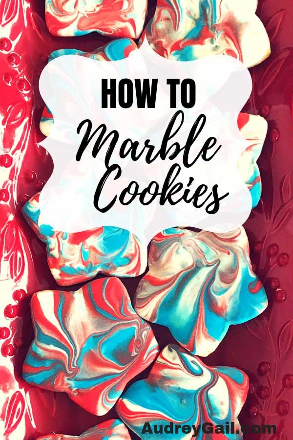 How to make marbled royal icing on sugar cookies. - Audrey Gail