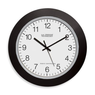 La Crosse Technology Atomic Wall Clock With Black Frame Atomic Wall Clock Wall Clock Clock