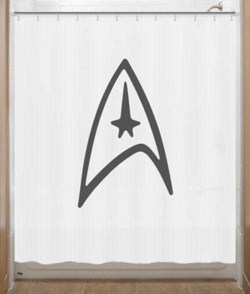 Star Trek Shower Curtain Logo Communicator Bathroom Decor Bath