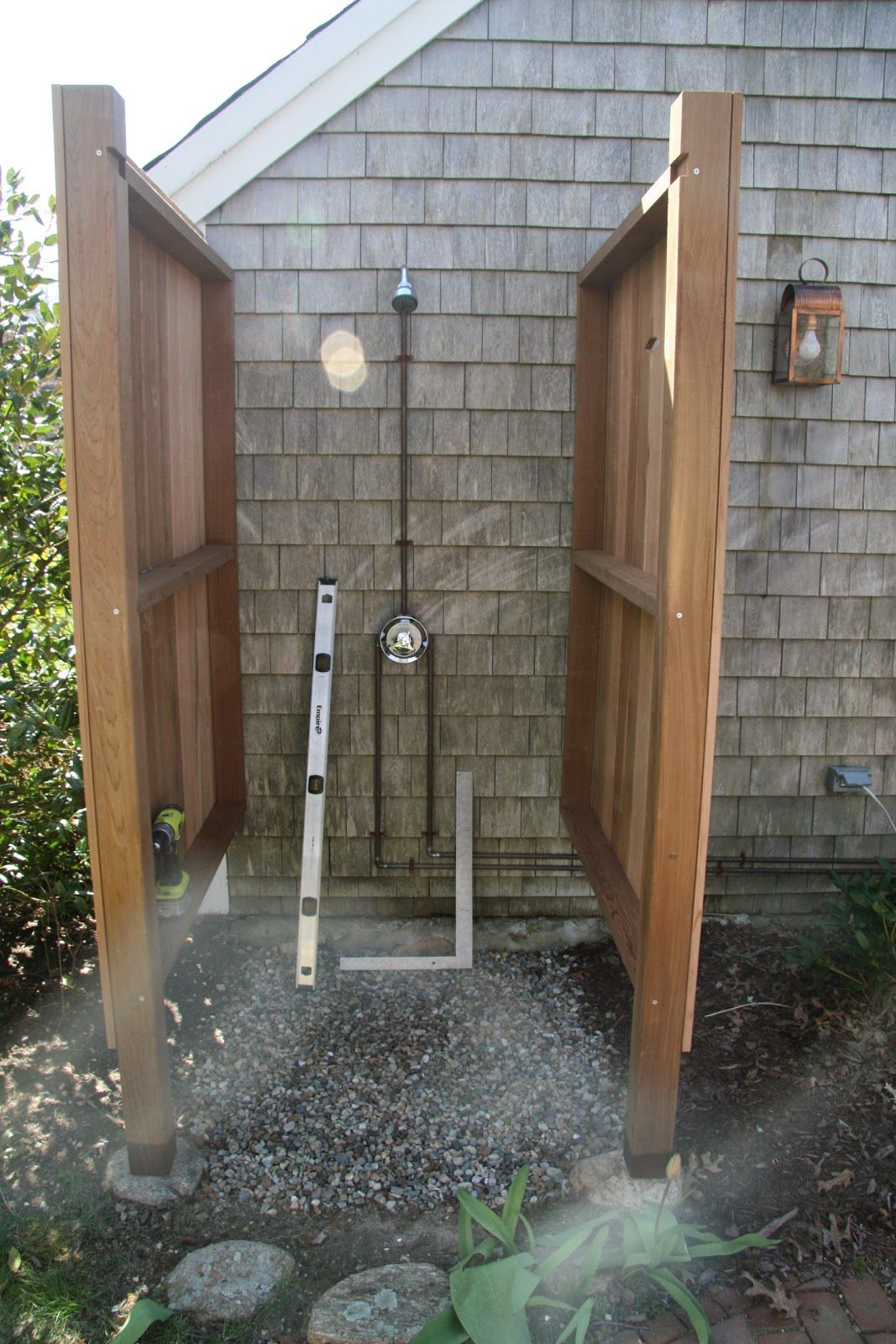 Our First Summer Vacation Project At Old Farm Was Installing An Outdoor Shower I Decided It