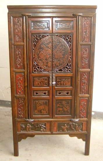 Chinese Furniture Doors Cabinet with Carving   China chinese antique  furniture  furniture. chinese antique dinner wear       Doors Cabinet with Carving