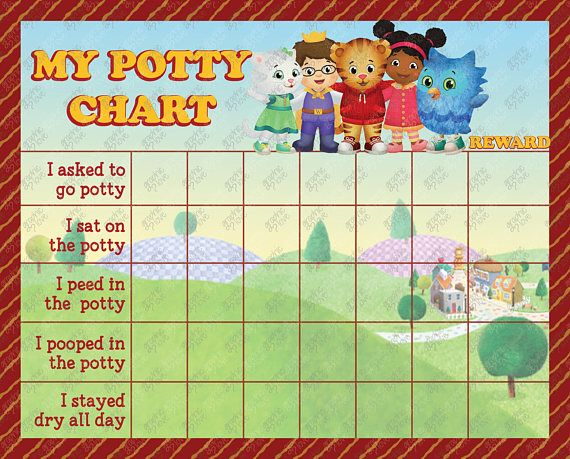 Printable Daniel Tiger Potty Chart Free Punch Cards Mr Kid Potty Chart Potty Chart Potty Training Stickers