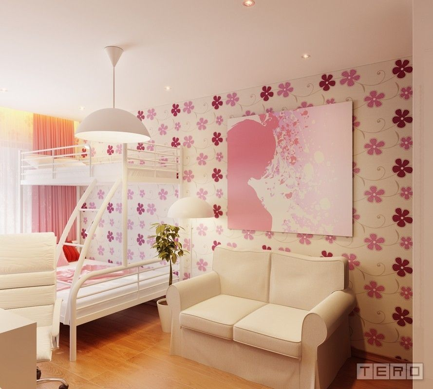 Bedroom Ideas For Teenage Girls 2012 girls bedroom decorating ideas with 2 beds | girls bedroom design