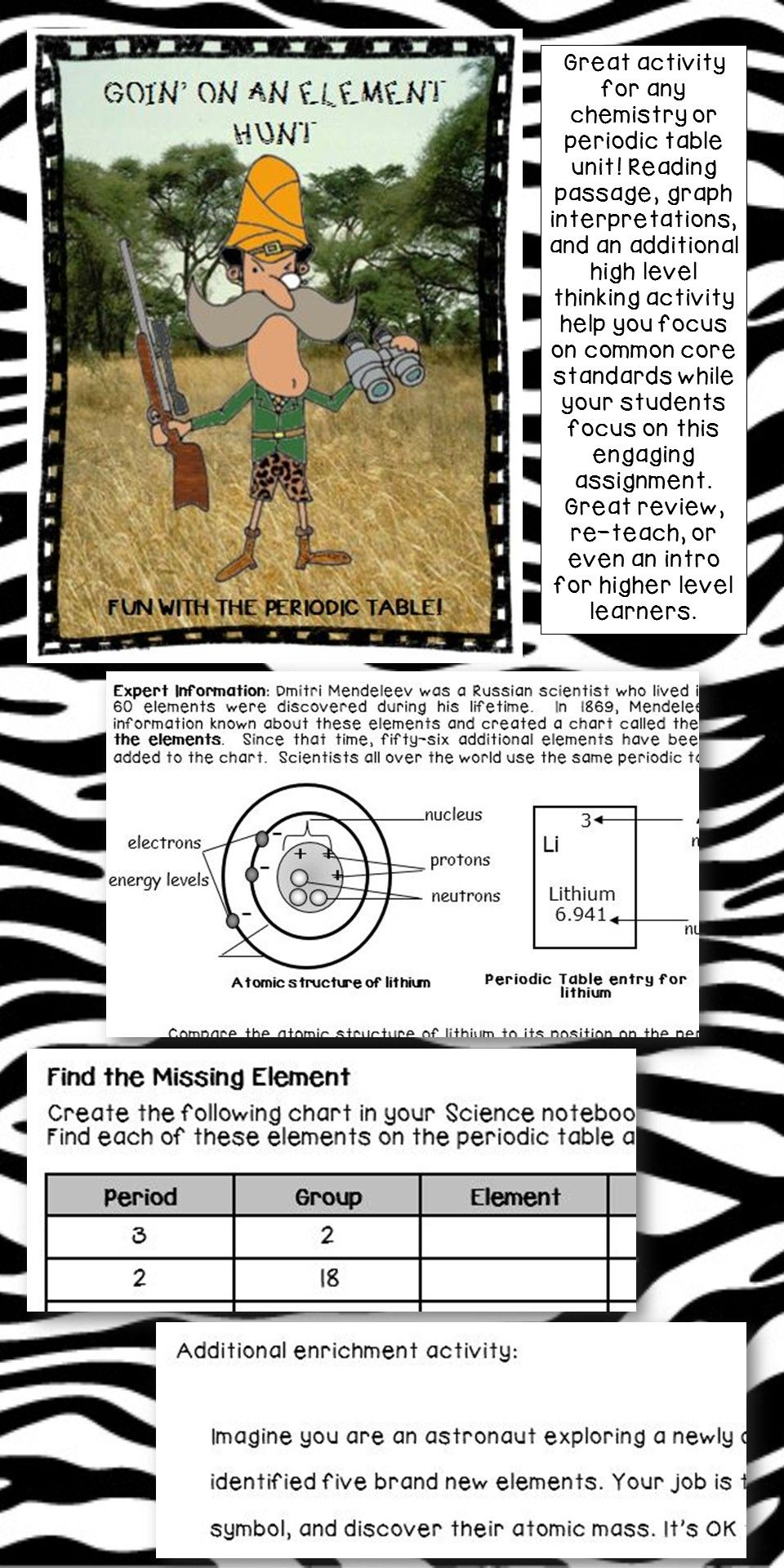 fun elemental mystery activity element periodic table atom jr high middle school periodic table knowledge and mystery - Periodic Table Discovery Activity