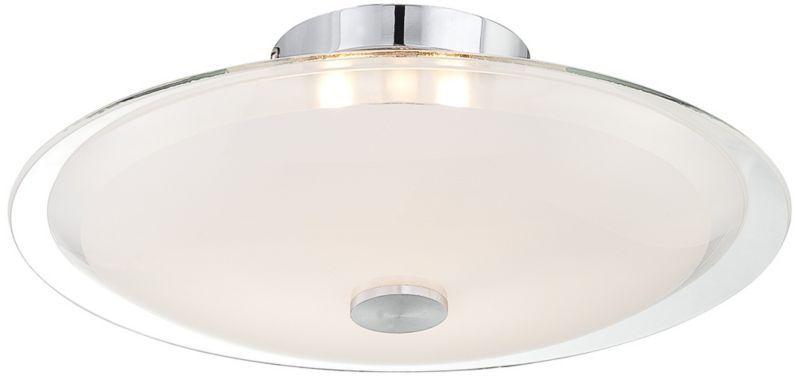 Possini Euro Chrome Glass Disk Round Modern Ceiling Light - light in kitchen entry