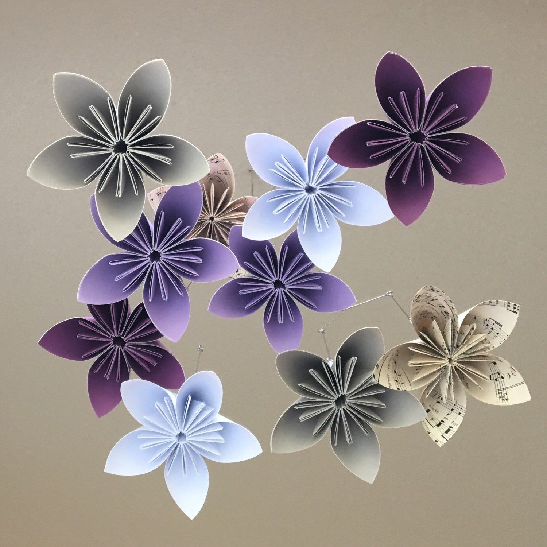 Flower Baby Mobile Custom Mobile Paper Flower Mobile Paper Flower