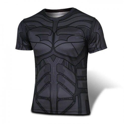 Batman Black T-shirt Round Collar T-shirt