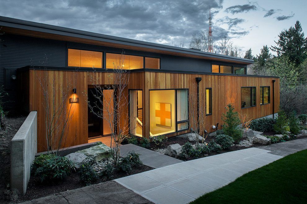 Themonumentviewnet House numbers exterior midcentury with dark