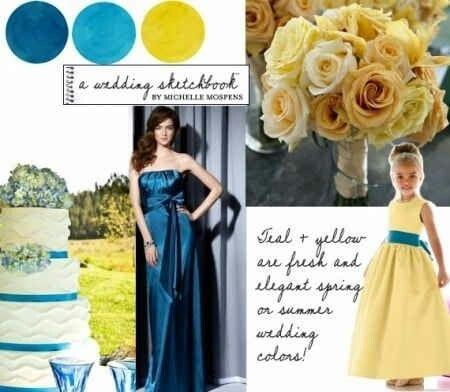 Azul Turquesa, Azul Royal e Amarelo.