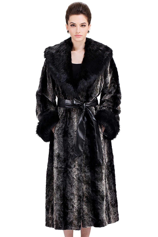 Clearance! Adelaqueen Women's Elegant Black and Grey Vintage Mink ...